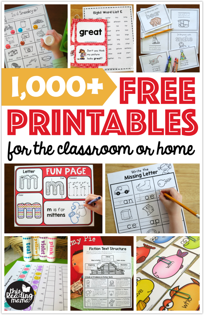 picture about Free Printable Reading Assessments for Elementary named Totally free Printables and Discovering Pursuits - This Looking at Mama