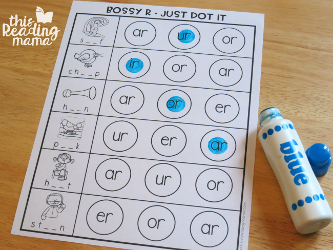 Bossy R Dot Paint Page ~ Just Dot the Pattern with Level 1