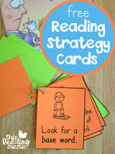 Reading Strategy Cards ~ Great for Guided Reading
