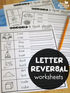 Letter Reversal Worksheets