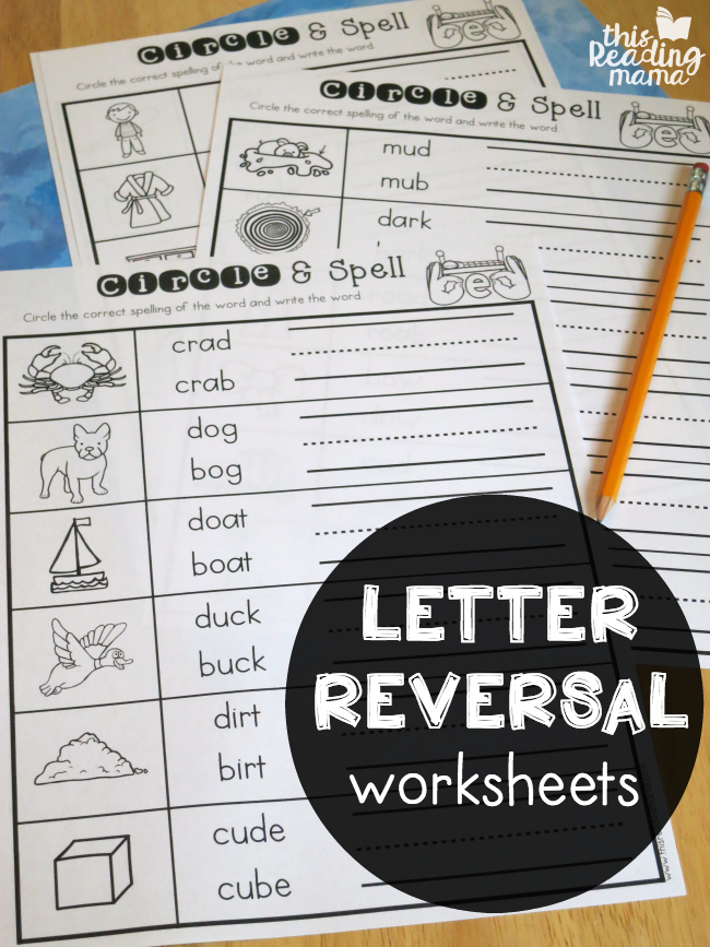 Letter Reversal Worksheets   This Reading Mama