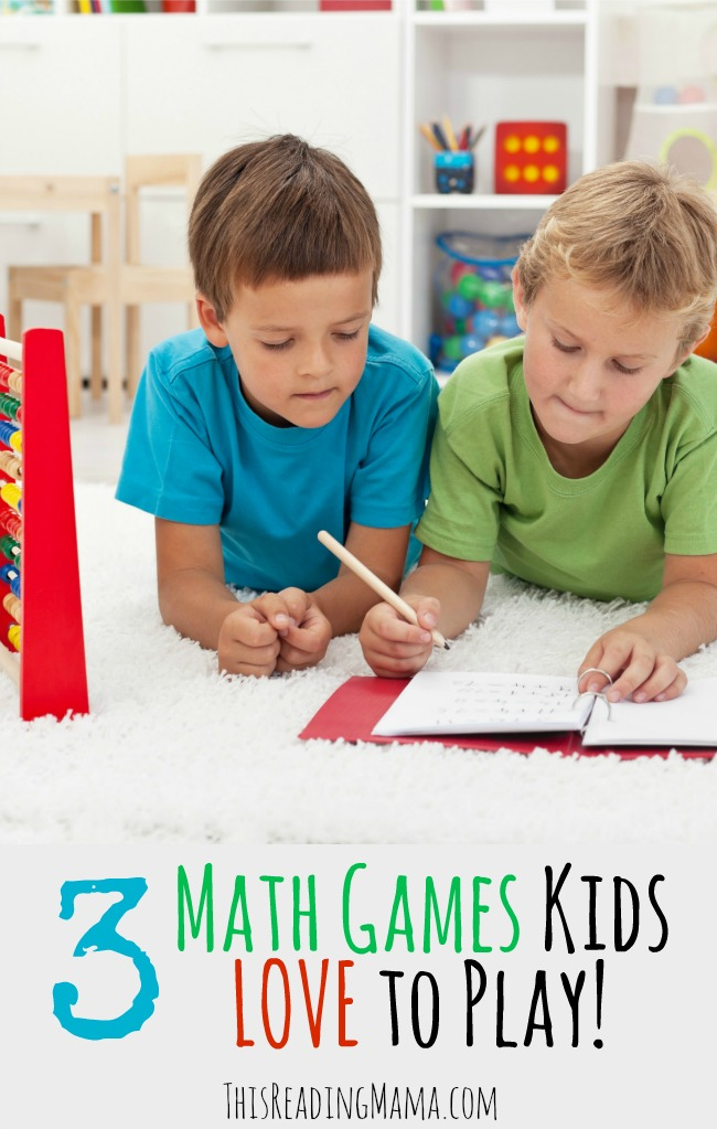 3 Math Games Kids Love to Play! ~ Math Geek Mama for This Reading Mama