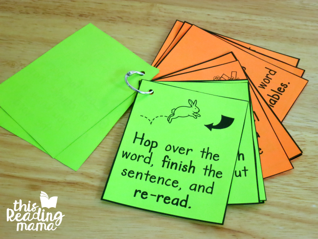 Reading Strategy Cards for K-3 Learners
