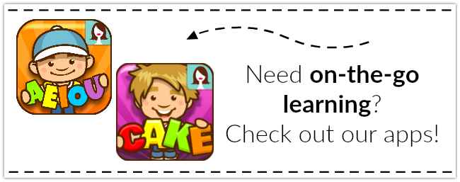 Literacy Apps for Letters, Short Vowels, Long Vowels, & MORE! from This Reading Mama