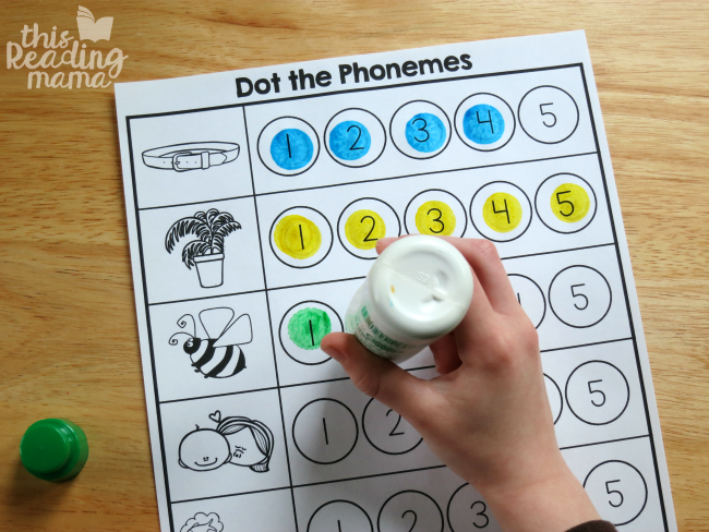 counting and dotting the phonemes