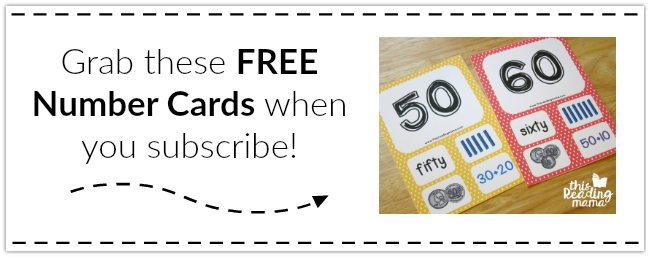 Grab these FREE Number Cards when you Subscribe to my Newsletter!