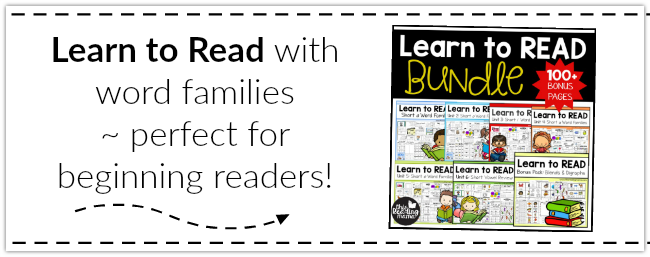 Learn to Read with Word Families ~ This Reading Mama