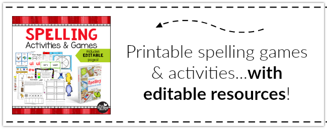 Printable Spelling Activities & Games with EDITABLE PAGES ~ This Reading Mama