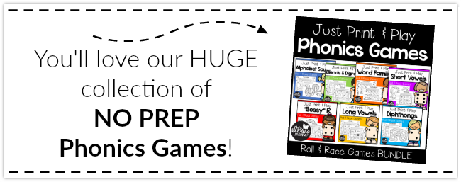 NO PREP Phonics Games ~ Making Differentiation a BREEZE!