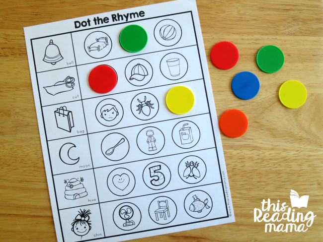 using counters to find the rhyming words