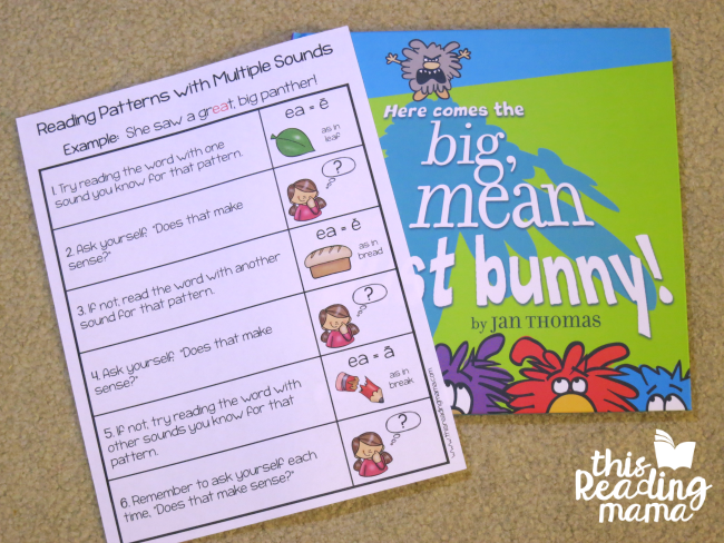 using the multiple phonics sounds chart when reading
