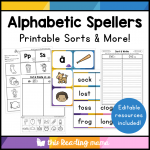 Alphabetic Spellers - Printable Sorts and MORE!