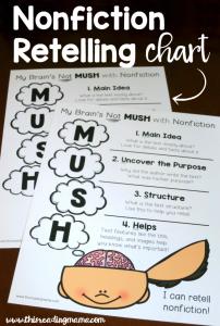FREE Nonfiction Retelling Chart with MUSH