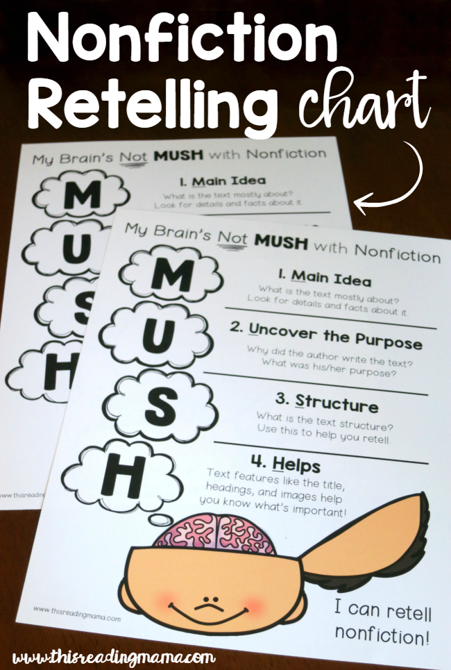 FREE Nonfiction Retelling Chart with MUSH