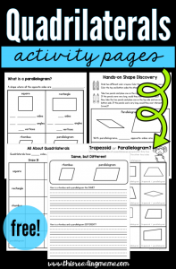 Quadrilateral Activity Pages {FREE!}