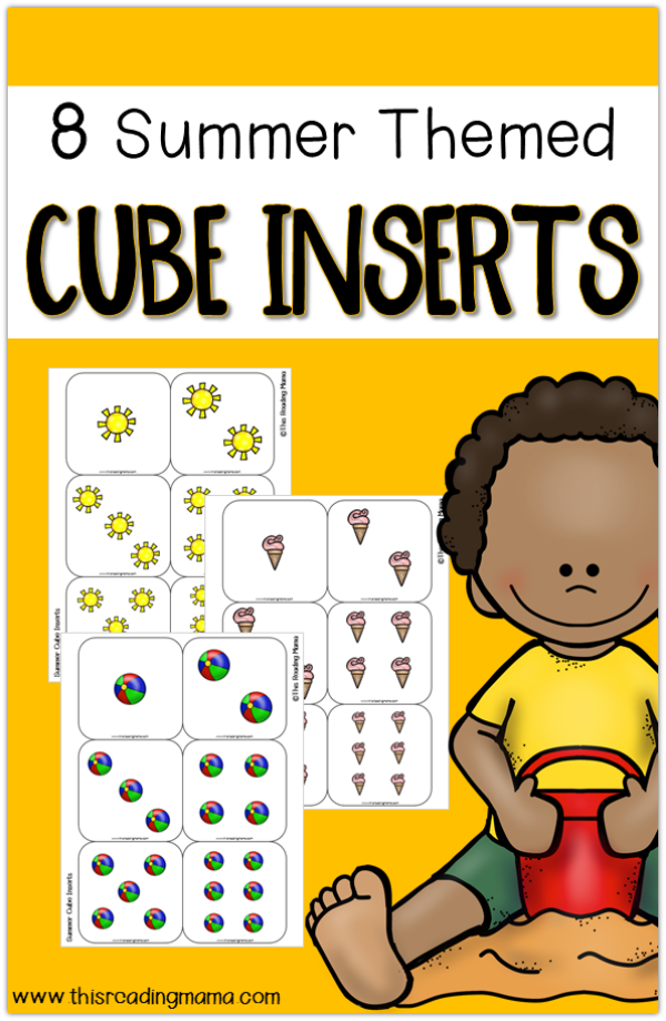 8 Free Summer Cube Inserts for Pocket Cubes - This Reading Mama