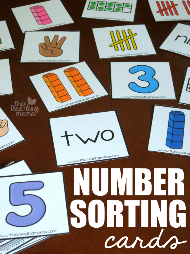 Number Sorting Cards
