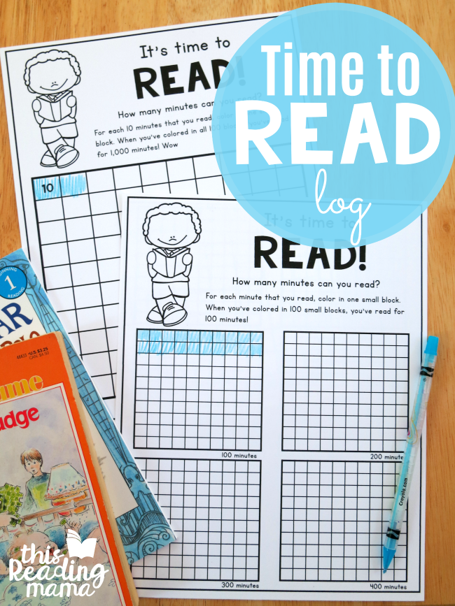 Time to Read: Printable Reading Log - This Reading Mama