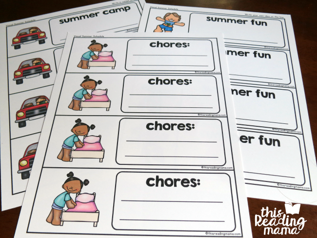 Visual Summer Schedule Printable - This Reading Mama