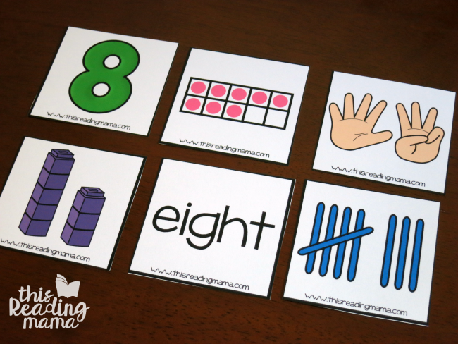 number sorting cards - different ways to make numbers