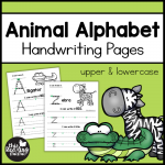 Animal Alphabet Handwriting Pages Pack - This Reading Mama