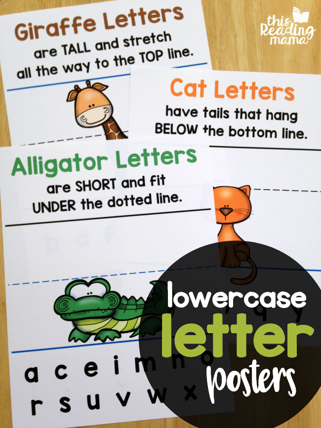 Animal Lowercase Letter Posters