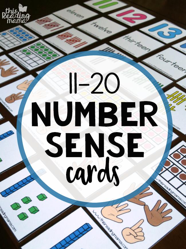 Number Sense Cards 11-20