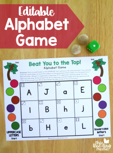 Editable Alphabet Game – Uppercase & Lowercase