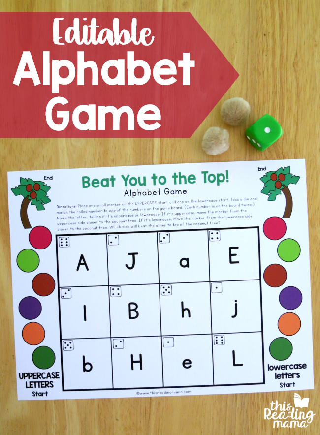 Editable Alphabet Game for Upper and Lowercase Letters {FREE!} - This Reading Mama