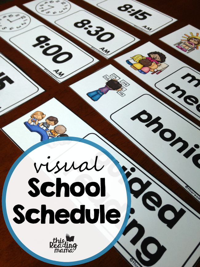 picture about Free Printable Visual Schedule for Preschool called Visible Higher education Timetable No cost! - This Studying Mama