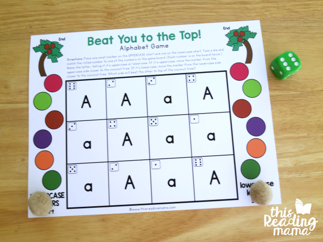 Level 1: editable alphabet game - 1 letter