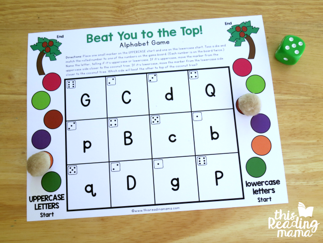 Level 3 editable alphabet game with visually similar letters