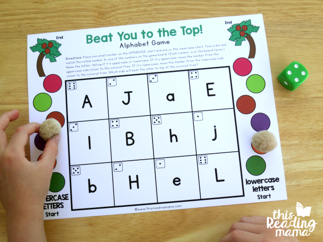 moving the coconut to the coconut tree - Chicka Chicka Boom inspired editable alphabet game