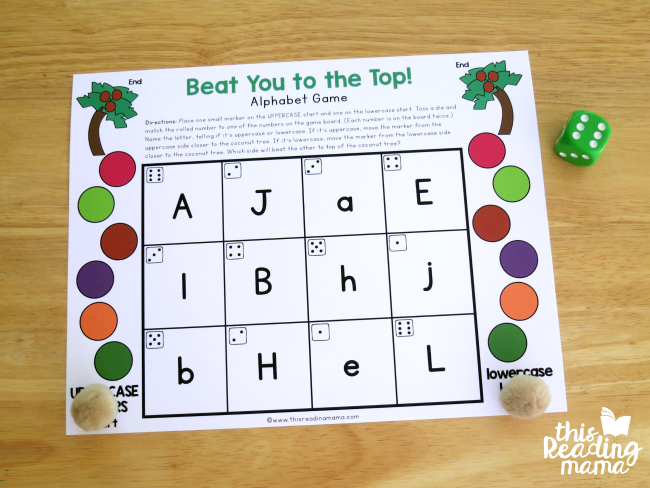 starting position for Editable Alphabet Game