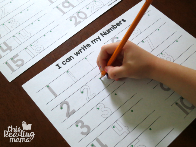 writing numbers 1-20 ~ great for assessment or independent work