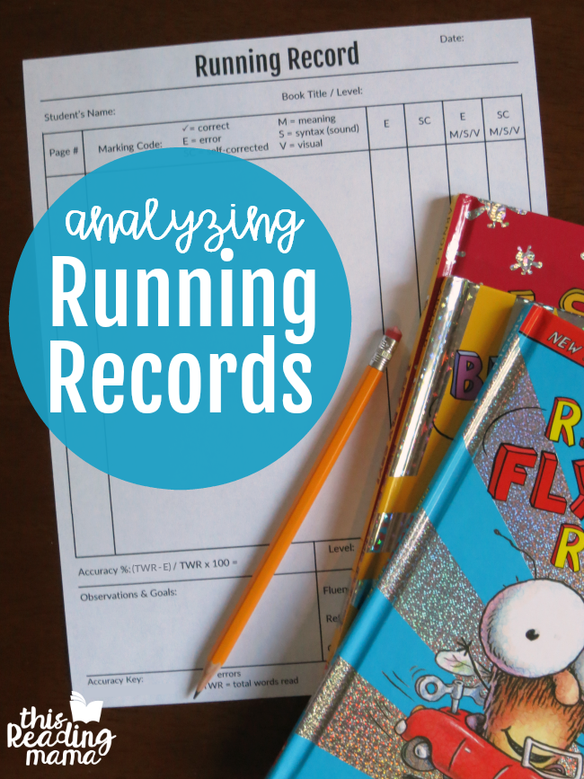 Analyzing Running Records with MSV - This Reading Mama