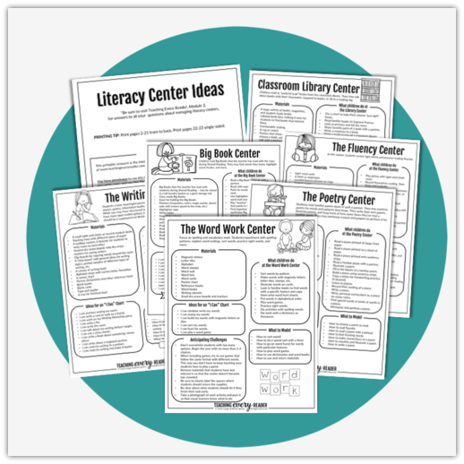 image relating to Printable Literacy Centers First Grade referred to as 12 months-Extended Literacy Facilities with Free of charge Final decision