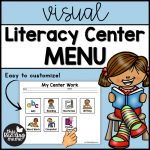 Visual Literacy Center Menu - easy to customize - This Reading Mama