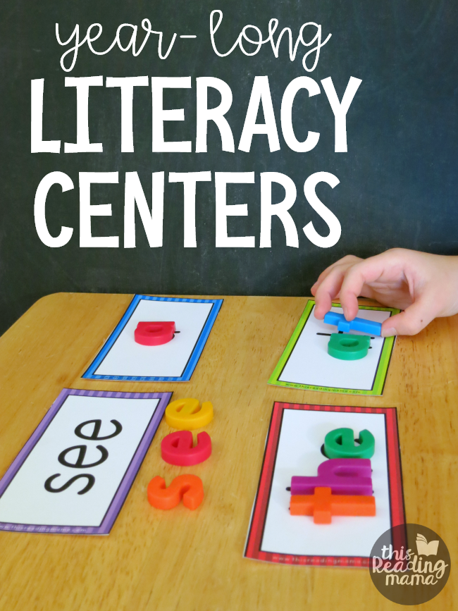 Year-Long Literacy Centers - This Reading Mama