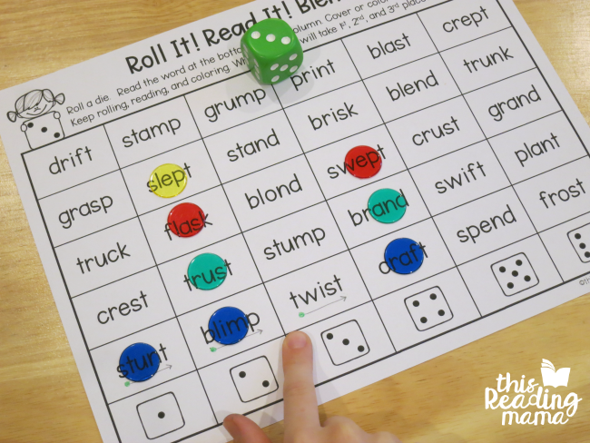 phonics dice games - help kids read through words