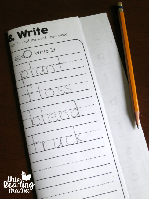 spelling words by sounding through them - a great challenge for kids!