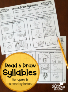 Open and Closed Syllable Pages – Read & Draw