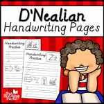 D-Nealian Handwriting Pages - This Reading Mama
