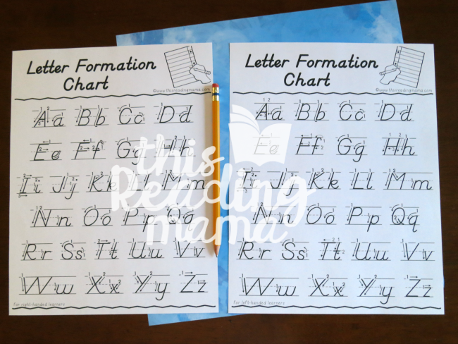 D'Nealian Handwriting Formation Charts - This Reading Mama