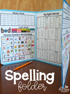 Spelling Folder with FREE Printables