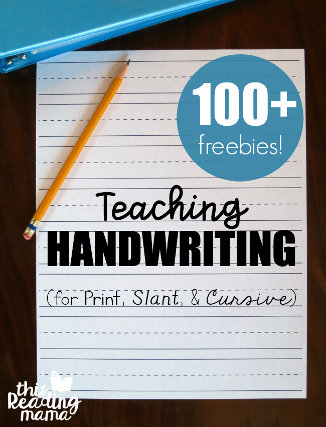 Teaching Handwriting - FREE Resources from This Reading Mama