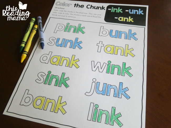 Color the Chunk mixed review welded sounds page
