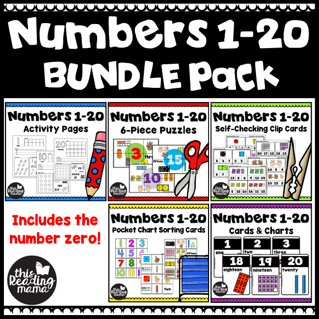 picture regarding Large Printable Numbers 1-20 named Printable Quantity Chart for Quantities 1-20 - This Looking through Mama