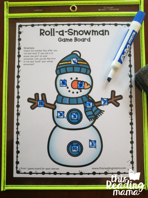 winner of snowman sight word game