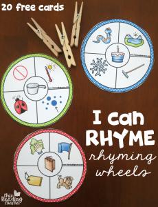 20 Free Rhyming Wheels – I Can Rhyme